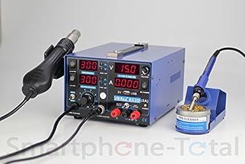 Yihua 853D interrumpibles de soldador estación de soldadura aire caliente y soldador indicador digital, + cargador + misjetsapuntando sintonías después de ...
