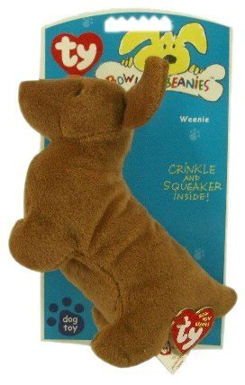 8a34f00f587 Image Unavailable. Image not available for. Color  Ty Beanie Babies - Weenie  the Dachshund Dog