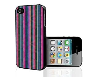 Colorful Spring Pink, Orange, and Green Stripes Hard Snap on Phone Case (iPhone 4/4s)