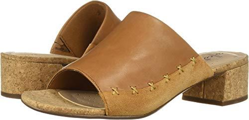 CLARKS Women's Elisa Abby Heeled Sandal tan Leather/Suede Combi 085 M US