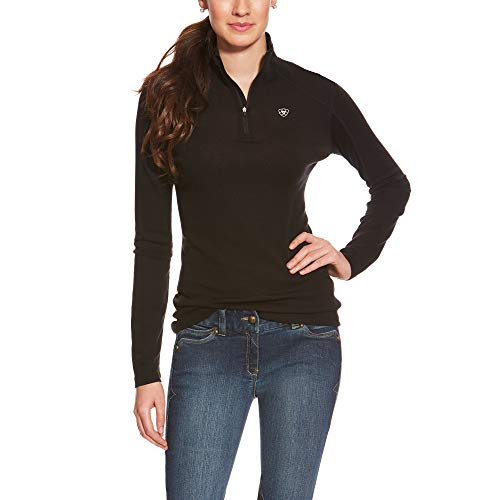 ARIAT Women's Cadence Wool 1/4 Zip Baselayer Black Size XL -