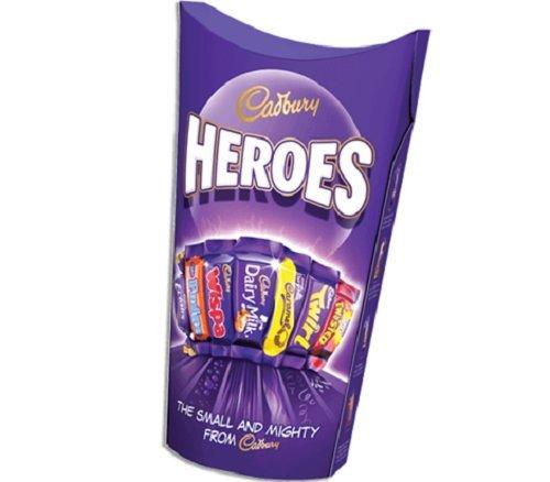 (Cadburys Heroes Carton 323g x 3 Pack )