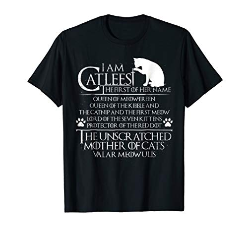 I Am The Catleesi Mother Of Cats T-Shirt - Funny Cat Shirt