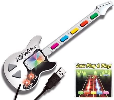 Mini Guitarra Riff Rocker USB: Amazon.es: Videojuegos