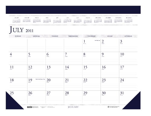 House of Doolittle Academic Desk Pad Calendar, Non-Refillable, 14-Month, July-August, 2012-2013, 22
