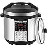 COSORI Upgraded 8-in-1 6 Qt Electrical Pressure Cooker with Instant Stainless Steel Pot, 19 Program Slow Cooker, Rice Cooker, Yogurt Maker, Saute, Steamer, Warmer, Extra Sealing Ring