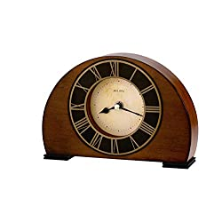 Bulova B7340 Tremont Clock, Walnut Finish (Renewed)