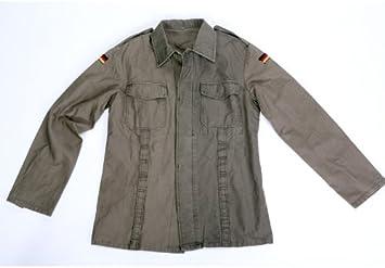 Fratelliditalia Camisa Hombre Soldado Militar Moleskin alemán algodón Bolsillos Botones Tirantes: Amazon.es: Deportes y aire libre