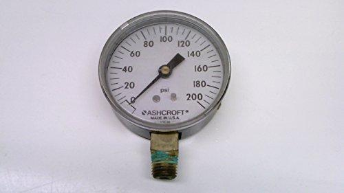 Ashcroft 25W1005-H-02L - 0-200 Psi - Pressure Gauge, 2-1/2
