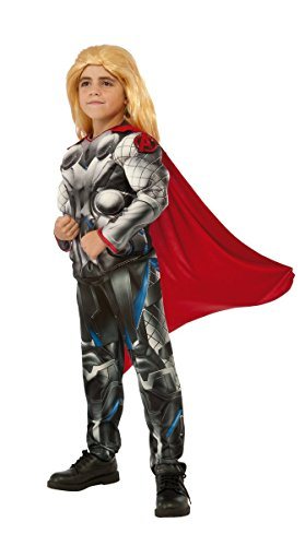 Marvel Avengers Thor Boys Muscle Costume with Clip-on Badge (Large (Child Avengers Thor Muscle Costumes)