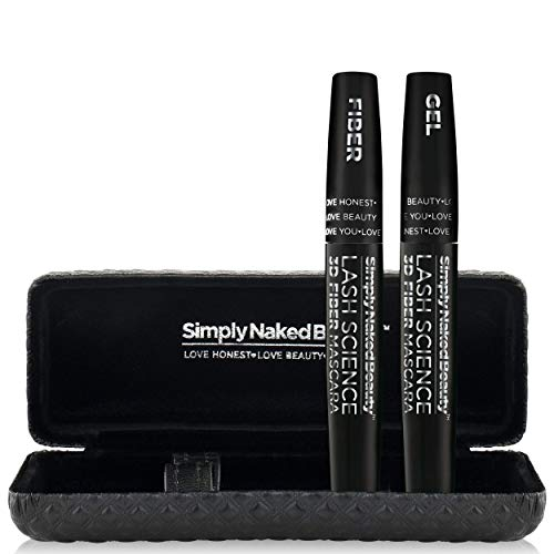 3D Fiber Lash Mascara by Simply Naked Beauty. Waterproof, lengthening voluminous, on lashes all day. Best and highest rated 3D and 4D gel and fiber formula. Non toxic, hypoallergenic, Natural. Black