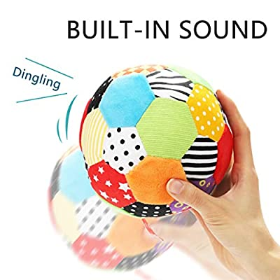 ZaiQu Color Sensory Bell Ball Baby Hand Catch Ball Children Layout Toy Ball 0-1 Years Old, Visual Development: Home & Kitchen