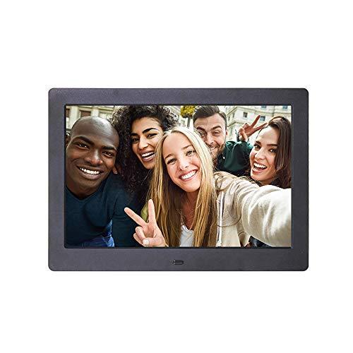 Digital Photo Frame 10.1 Inch Electronic Photo Album Multi-Function Clock Calendar Built-in Dual Speakers Advertising Machine,White ()