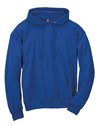 Hanes Men's Pullover Ecosmart Fleece Hooded Sweatshirt, Charcoal Heather, S