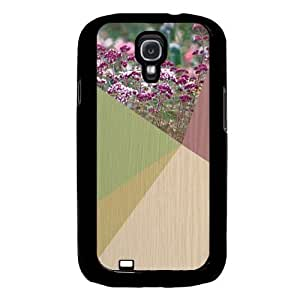 Cool Painting Floral Geometric On Wood Samsung Galaxy S4 I9500 Case Fits Samsung Galaxy S4 I9500