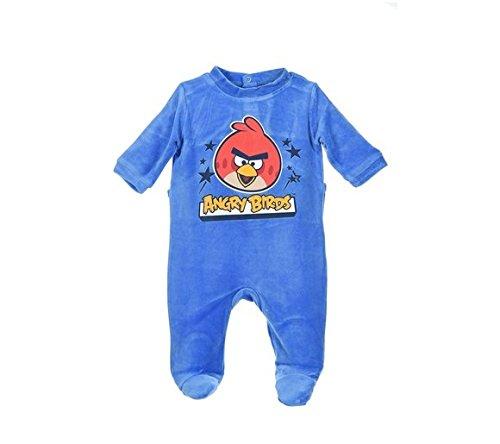 Grigio 3m Baby Pigiama Colore Birds Taglia Angry Blu waIYqF6f