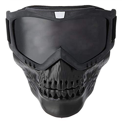Keenso Motorrad Maskenbrille, Unisex Outdoor Abnehmbare Motorradbrille Helm Maske Skibrille Sport Motorrad Racing…