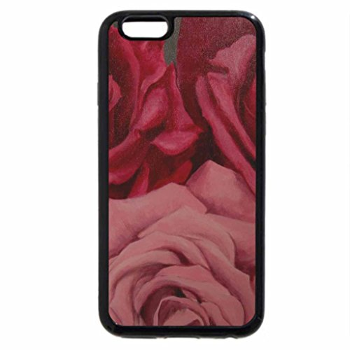 iPhone 6S Plus Case, iPhone 6 Plus Case (Black & White) - Three beautiful roses for Valentine's Day