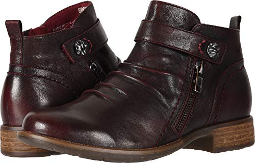 Earth Booties - Earth Women's Brook Garnet Soft Leather 7.5 B US