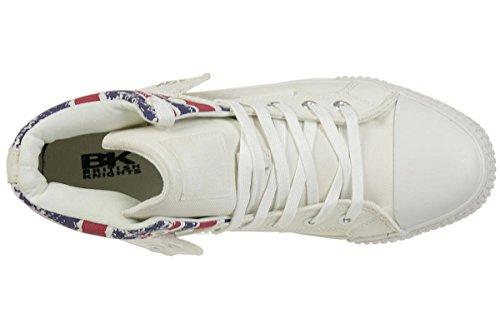 British Knights ROCO BK Sneaker B41-3709-11 England Flagge Weiss White/Union Jack