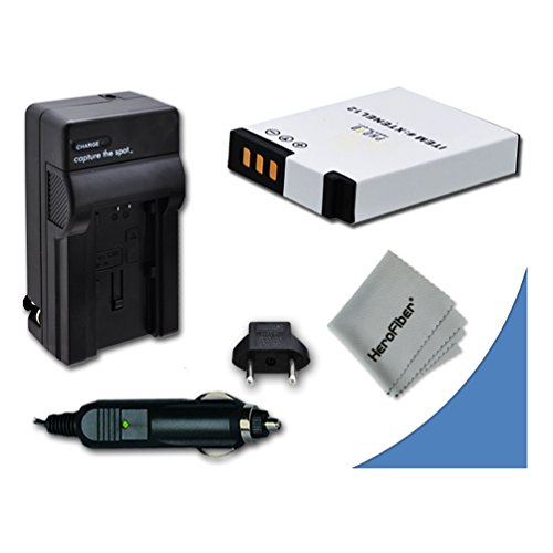 High Capacity Replacement Nikon EN-EL12 Battery with AC/DC Quick Charger Kit for Nikon Coolpix S9500, S9300, S9100, S8200, S8100, S8000, S6300, S6200, S6150, S6100, S6000, S1000pj, S1100pj, S1200pj, AW100, AW110, S800c, S610, S610c, S620, S630, S640, S70, S31, S710, P310, P330, P300 Digital Cameras