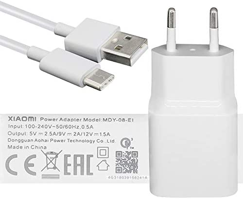 Cargador modelo MDY 08 EO (5V2A) + Cable USB Tipo C, Blanco