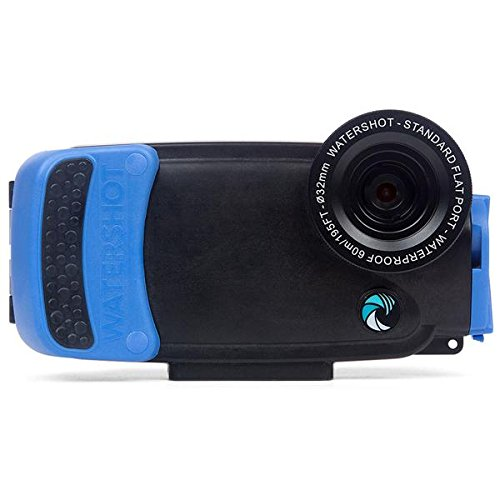 Watershot PRO Housing for iPhone 7 (Snorkel Blue) Flat Lens Port only