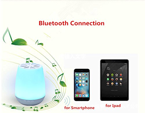 Smart App Control LED Bluetooth Speaker ,HJD Light Night Lamp Colorful Night Lights Hands Free Alarm Clock App Control for Home, Spa, Bedroom, Office by HJD LIght (Image #3)