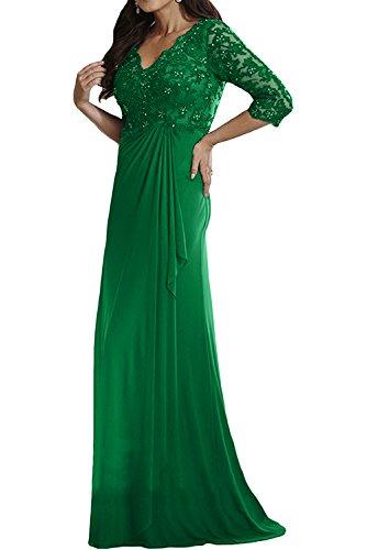 Abendkleider Grün Damen Damen Spitze Langarm Brautmutterkleider Gruen Charmant Jaeger mit Langes Festlichkleider wIdUwPgq
