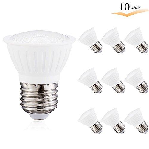 7Watt PAR16 LED Flood Bulb, 3000K Soft White, Dimmable, 120° Beam Spread, 65W Halogen light bulb Equivalent, 700 lumens, CRI 85+ , AC 120V, E26 Medium Base for Home Display Chandelier(Pack of 10)