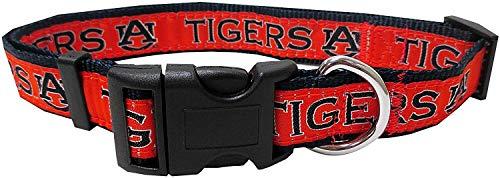 (Pets First Collegiate Pet Accessories, Dog Collar, Auburn Tigers, Large)