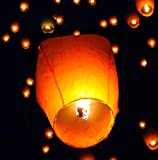 Paper Lantern Sky Candle Birthday Party : 50 White Paper Chinese Lanterns Sky Fly Candle Lamp for Wish Party Celebrant : Lamp Wedding White