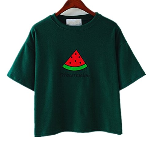 uideazone-women-embroidery-watermelon-crop-top-green-short-sleeves-t-shirt
