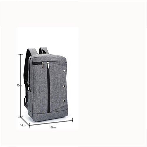 Rucksack Mochila Oxford tela 16 pulgadas portátil mochilas para hombres y mujeres , grey grey