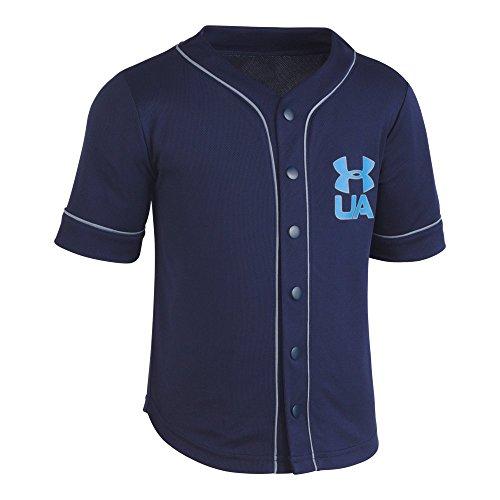 Under Armour Little Boys' Homerun Baseball Jersey Short Sleeve T-Shirt, Academy, - Boy Baseball Jersey