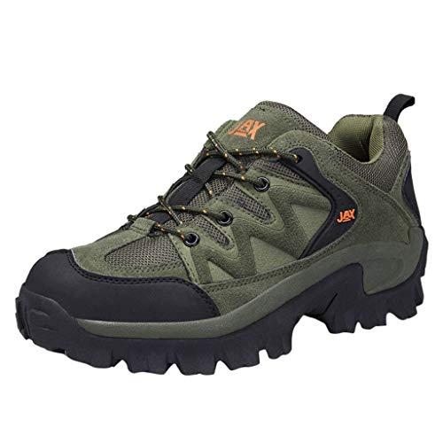 (JJLIKER Men's Hiking Shoes Lightweight Suede Sneaker Waterproof Outdoor Walking Trekking Training Casual Work Shoes)
