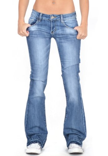 Flared Jeans Cut Pants - 5