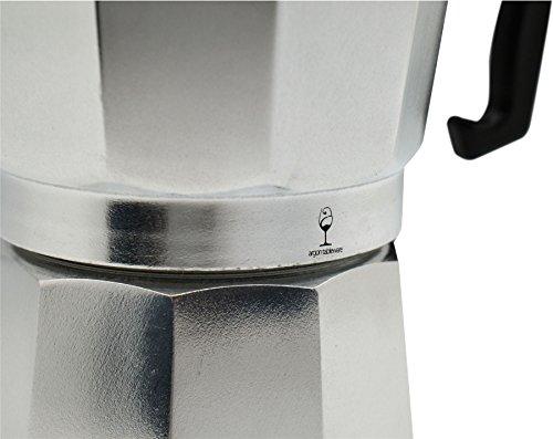 photo Wallpaper of Argon Tableware-Argon Tableware 6 Cup Italian Style Stove Top Espresso Coffee-Silver