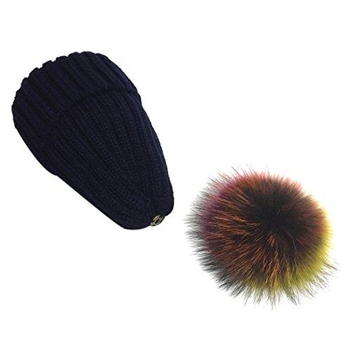 free mioim sombrero de piel de mapache sombrero pompn de punto de lana  pompon bolas gorro with gorro lana pompom. c3c3fe63e32