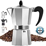 Classic Stovetop Espresso Maker for Great