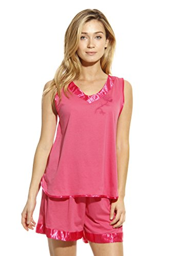 1531-FUC-M Dreamcrest Short Sets / Women Sleepwear / Womans Pajamas,Fuchsia,Medium