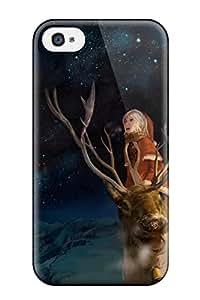 New Premium RwImHTQ1333COROD Case Cover For Galaxy S5/ Animal Christmas Horns Landscape Night Original Scenic Sky Snow Stars Winter You Shimizu Protective Case Cover