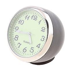 MagiDeal Luminous Car Dashboard Clock Table Classic Small Round Analog Quartz Clock