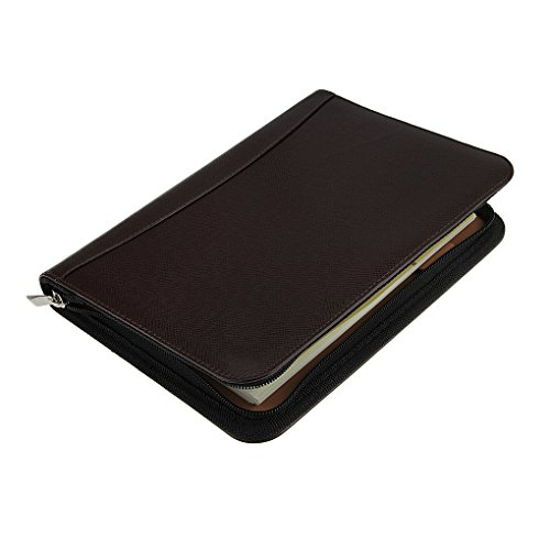 Up Scale Pu Leather Cover A5 Zipper Notebook Spiral Bound