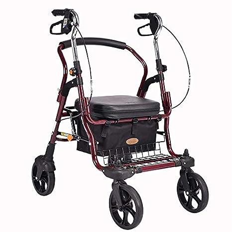 4 Wheel Rollator with Ultra Ligero Andador Movilidad Walker 4 ...
