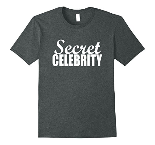 Funny Celebrity Costumes (Mens Funny Halloween Costumes | Secret Celebrity Shirt XL Dark Heather)