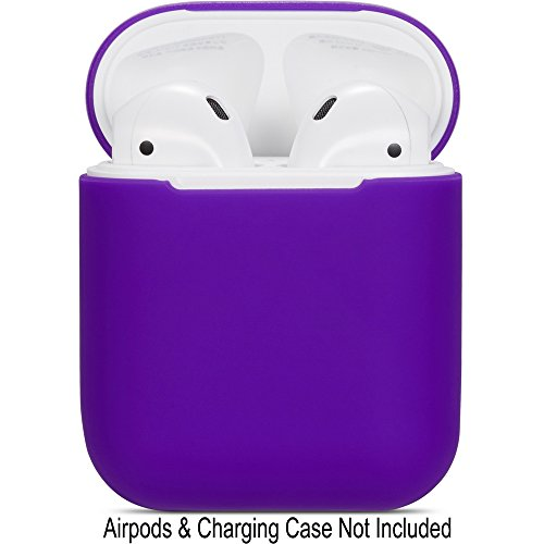 (Compatible Airpods Case, Protective Ultra-Thin Soft Silicone Shockproof Non-Slip Protection Accessories Cover Case for Apple Airpods 2 & 1 Charging Case - Purple)