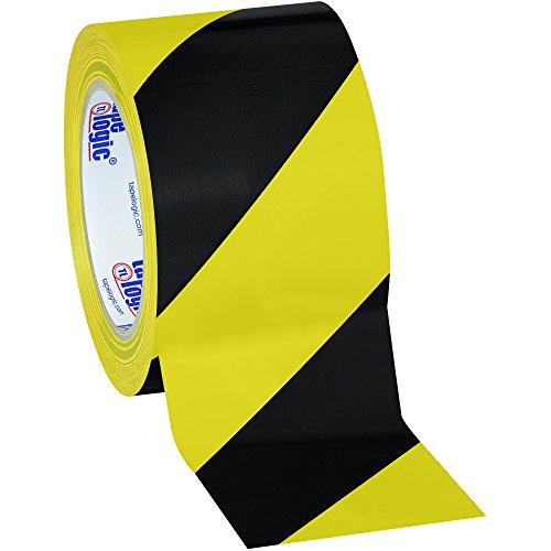 Aviditi Heavy Duty Striped Vinyl Safety Tape, 36 yds. x 3