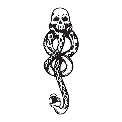 Harry potter death eaters dark mark tattoos for cosplay for Harry potter death eater tattoo