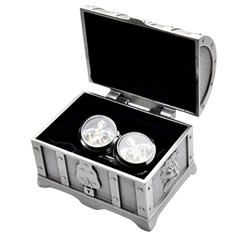 REINDEAR Deluxe Working Movable Mechanical Watch Movement Cufflinks (Tourbillon Movement Cufflinks w/Treasure (Mechanical Watch Cufflinks)